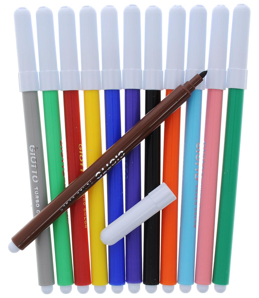 Набор фломастеров Giotto Turbo Color - это 12 ярких насыщенных цвета и оттенка в разноцветных пластиковых корпусах (цвет корпуса соответствует цвету чернил).Суперпрочные стержни фломастеров устойчивы к повышенному давлению и не убираются внутрь. Данные фломастеры дают возможность создавать тонкие линии, ими удобно писать короткие тексты и рисовать. Каждый фломастер оснащен плотным вентилируемым колпачком. Чернила изготовлены на водной основе. Легко отстирываются и смываются с рук.Рисование знакомит ребенка с цветами и формами, и положительно влияет на настроение детей. Кроме того, оно развивает мелкую моторику, воображение и творческое мышление.