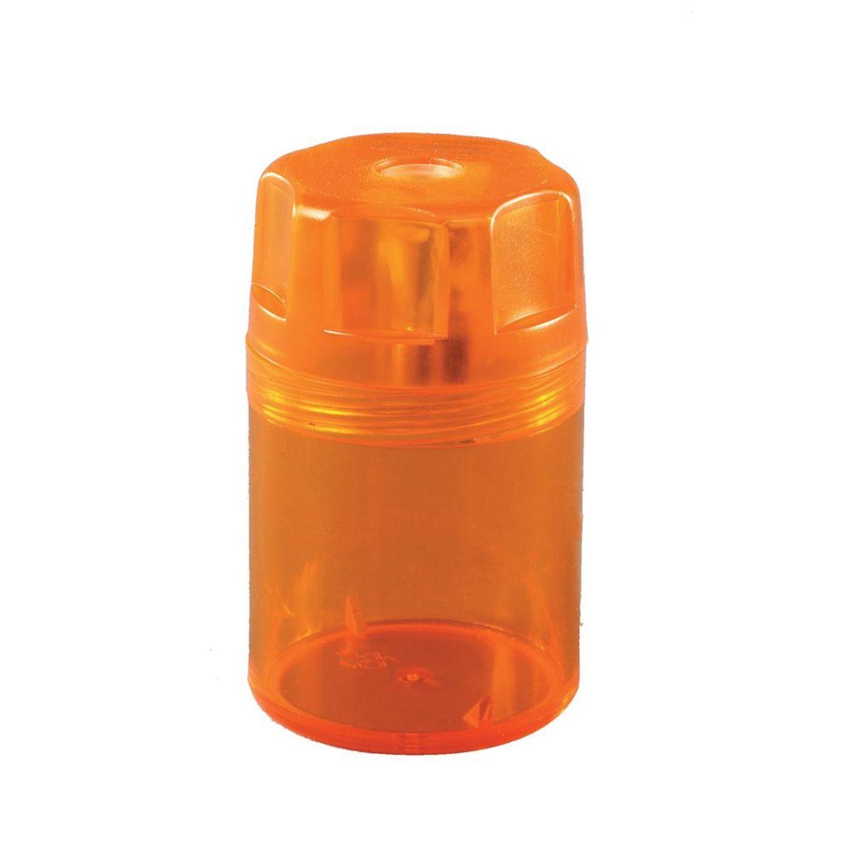 Точилка-бочонок в прозрачном пластиковом корпусе. Предназначена для заточки карандашей диаметром 8 мм. Снабжена металлическими лезвиями высокого качества. Имеется контейнер для стружки.
