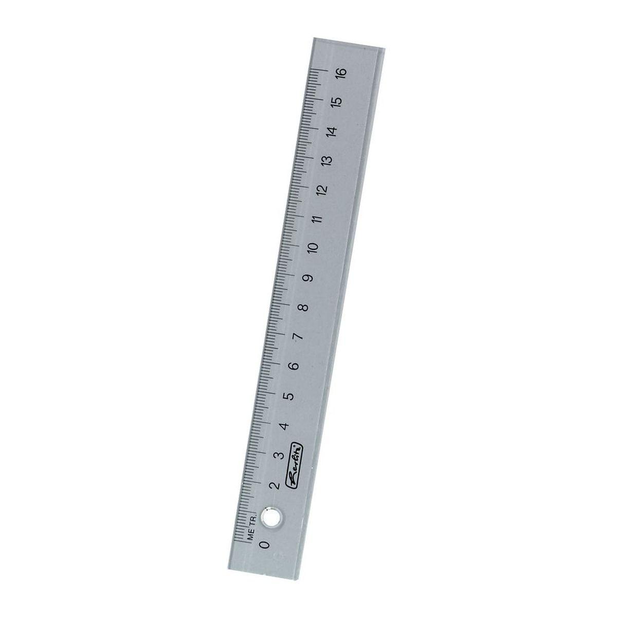 Линейка Herlitz с делениями на 16 см имеет четкую миллиметровую шкалу делений и подходит для измерения длины или черчения. Она изготовлена из прозрачного пластика и устойчива к деформациям.Линейка - это незаменимый атрибут для любого студента, школьника или офисного работника. Такая линейка от Herlitz станет вашим помощником в любом проектном или учебном деле.