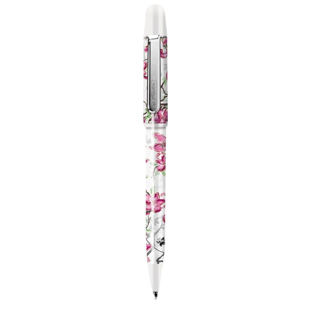 Шариковая ручка Herlitz из дизайнерской серии Ladylike. Благодаря мягко изогнутым линиям, нежным пастельным тонам и актуальному цветочному дизайну - удовольствие при письме гарантировано. Корпус изготовлен из прочного пластика. Цвет чернил - синие.