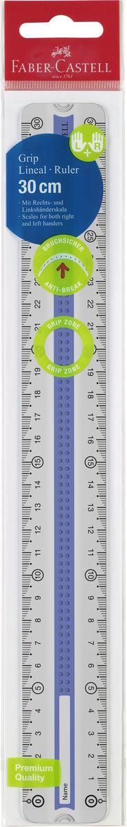 Линейка Faber-Castell Grip выполнена из прозрачного пластика. Линейка имеет две сантиметровые шкалы, благодаря чему подойдет как для правшей, так и для левшей. 3D Grip-зона и скошенные края обеспечивают удобный захват линейки.Практичная и удобная линейка - незаменимый инструмент на любом рабочем столе.