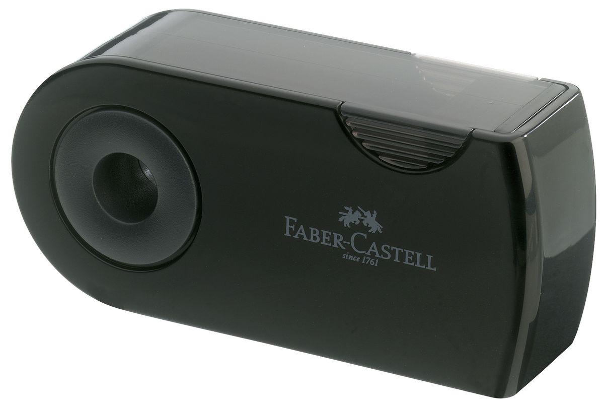 Двойная точилка Faber-Castell Sleeve выполнена из прочного пластика.В точилке имеются два отверстия для карандашей разного диаметра. Подходит для различных видов карандашей. Эргономичная форма контейнера обеспечивает стабильное положение кисти. Карандаш затачивается легко и аккуратно, а опилки после заточки остаются в специальном контейнере повышенной вместимости.