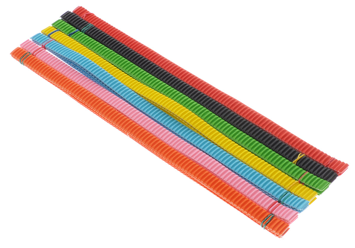 Цветной гофрированный картон для квиллинга Апплика Бабочка позволит вашему ребенку создавать всевозможные аппликации и поделки. Набор состоит из полосок гофрированного картона 7 цветов: желтого, оранжевого, салатового, красного, розового, черного и голубого. В упаковке по 6 полосок каждого цвета. Создание поделок из цветного гофрированного картона поможет ребенку в развитии творческих способностей, увлечет и подарит ему праздник и хорошее настроение.