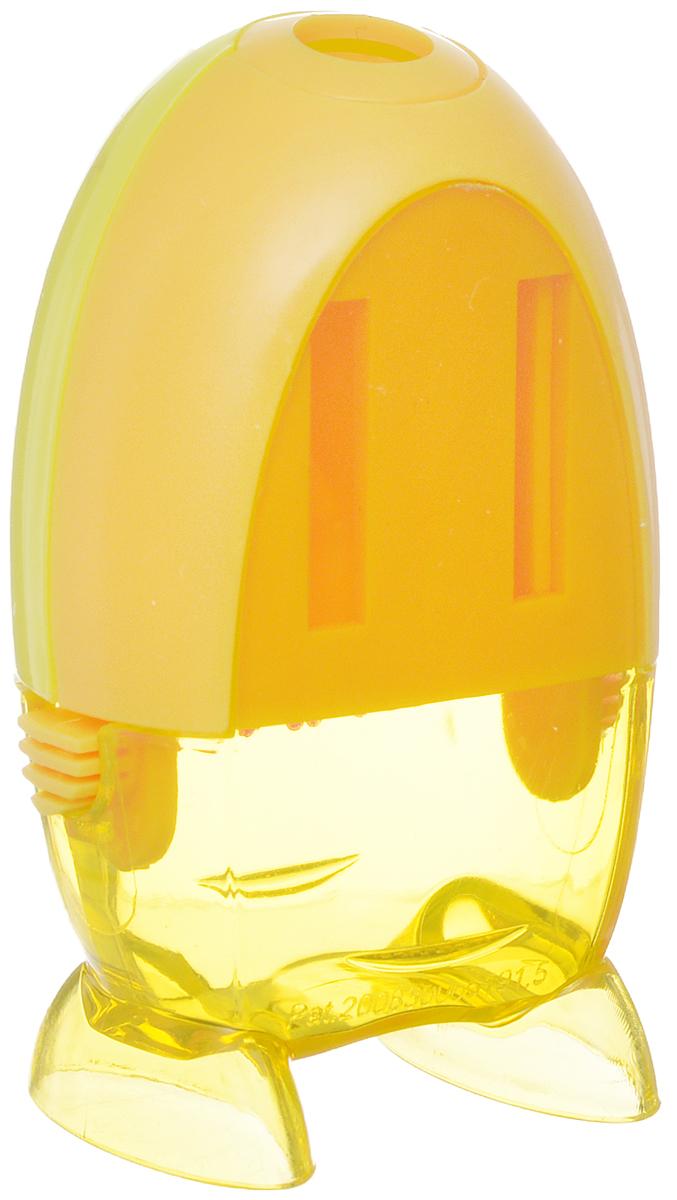 Точилка Action! Булька предназначена для заточки чернографитных и цветных карандашей.Точилка изготовлена из пластика, имеет одно отверстие и контейнер. Полупрозрачный контейнер для сбора стружки повышенной вместимости позволяет визуально контролировать уровень заполнения и вовремя производить очистку.Для увеличения срока службы точилки производите ее очистку после каждой заточки карандаша.