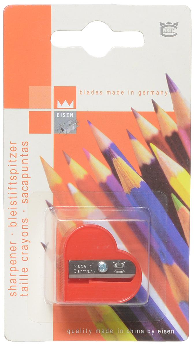 Точилка Eisen Сердце предназначена для затачивания классических простых и цветных карандашей.Точилка изготовлена из качественного материала и имеет рельефную область захвата. Острые лезвия обеспечивают высококачественную и точную заточку карандашей.