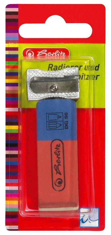 Точилка и ластик Herlitz - это незаменимые атрибуты для любого студента или школьника. Корпус точилки изготовлен из металла, а ластик - из качественной резины.  Точилка предназначена для заточки карандашей диметром 8 мм. Такой набор от Herlitz  станет для вас замечательным помощником в любом проектном или учебном деле.