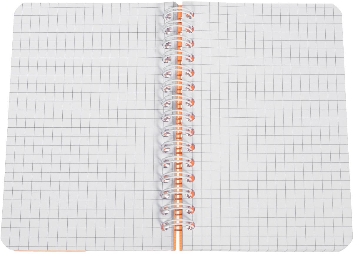 Стильная практичная тетрадь Oxford My Colours отлично подойдет для офиса и учебы. Тетрадь формата 90х140 мм состоит из 90 белых листов с четкой яркой линовкой в клетку. Обложка тетради выполнена из плотного полупрозрачного полипропилена. Двойная спираль надежно удерживает листы.  Также тетрадь имеет скругленные углы.