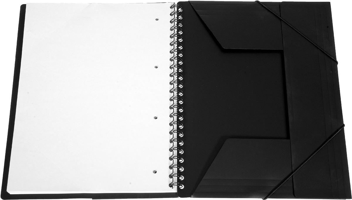Красивая и практичная тетрадь 2 в 1 Oxford Nomadbook отлично подойдет для ведения и хранения заметок. Тетрадь формата А4+ состоит из 80 листов белой бумаги и четкой яркой линовкой в клетку. Обложка тетради выполнена из жесткого полипропилена розового и черного цвета. Все ваши записи и заметки всегда будут в безопасности, так как тетрадь основана на прочном металлическом гребне. Также тетрадь имеет закругленные углы и благодаря специальным меткам на каждой странице и бесплатному приложению SOS Notes для вашего телефона или планшета, вы сможете всегда легко перенести ваши записи и зарисовки с бумажной страницы в смартфон или на компьютер.  Это прекрасное сочетание тетради и папки, так как включает в себя вставку папки с тремя клапанами на резинке в конце тетради для хранения различных документов.