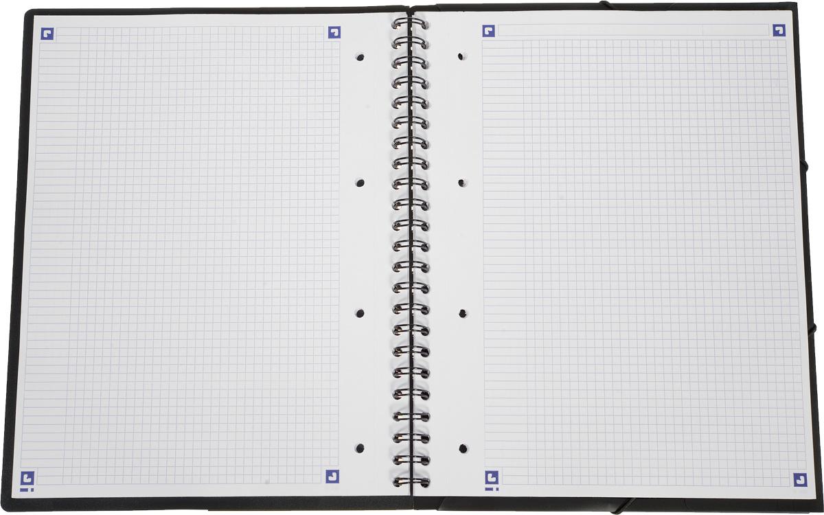 Красивая и практичная тетрадь 2 в 1 Oxford Nomadbook отлично подойдет для ведения и хранения заметок. Тетрадь формата А4+ состоит из 80 листов белой бумаги и четкой яркой линовкой в клетку. Обложка тетради выполнена из жесткого полипропилена фиолетового и черного цвета. Все ваши записи и заметки всегда будут в безопасности, так как тетрадь основана на прочном металлическом гребне. Также тетрадь имеет закругленные углы и благодаря специальным меткам на каждой странице и бесплатному приложению SOS Notes для вашего телефона или планшета, вы сможете всегда легко перенести ваши записи и зарисовки с бумажной страницы в смартфон или на компьютер.  Это прекрасное сочетание тетради и папки, так как включает в себя вставку папки с тремя клапанами на резинке в конце тетради для хранения различных документов.