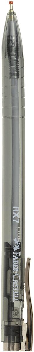 Шариковая ручка Faber-Castell RX-7 эргономичной трехгранной формы станет незаменимым атрибутом учебы или работы. Прозрачный корпус ручки выполнен из пластика и соответствует цвету чернил. Высококачественные чернила позволяют добиться идеальной плавности письма. Ручка имеет качественный нажимной механизм и оснащена упругим клипом для удобной фиксации на бумаге или одежде.