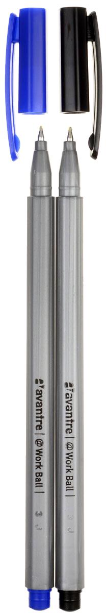 Шариковая ручка Avantre Work Ball станет незаменимым атрибутом учебы или работы. Ручка имеет практичный дизайн и обеспечивает комфортное письмо практически на любой бумаге. Шестигранный корпус ручки выполнен из прочного пластика серого цвета.  Ручка закрывается небольшим удобным колпачком, оснащенным клип-зажимом.В комплект входят 2 ручки с синими чернилами и 2 ручки с черными чернилами.