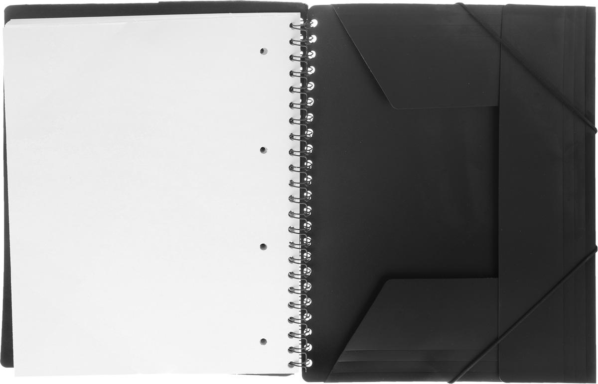 Тетрадь Oxford Nomadbook отлично подойдет для ведения и хранения заметок. Тетрадь состоит из 80 листов белой бумаги с микроперфорацией и четкой яркой линовкой в клетку.Обложка тетради выполнена из прочного пластика. Все ваши записи и заметки всегда будут в безопасности, так как тетрадь имеет скрепление - гребень.Благодаря специальным меткам на каждой странице и бесплатному приложению SOS Notes для вашего телефона или планшета, вы сможете всегда легко перенести ваши записи и зарисовки с бумажной страницы в смартфон или на компьютер. Это прекрасное сочетание тетради и папки, так как включает в себя вставку папки с тремя клапанами на резинке в конце тетради для хранения различных документов.