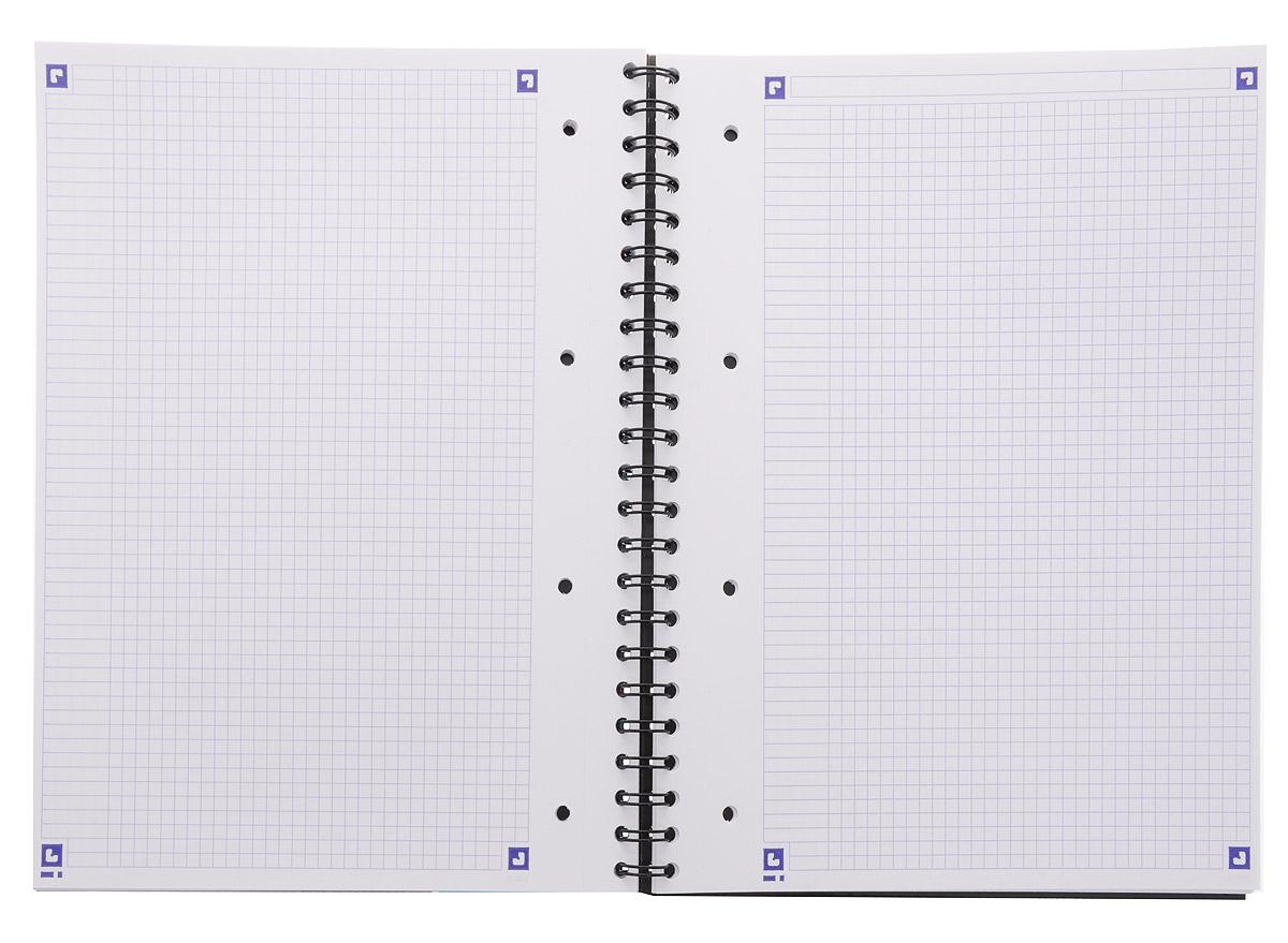 Красивая и практичная тетрадь Oxford Sos Notes отлично подойдет для ведения и хранения заметок. Тетрадь формата А4+ состоит из 80 белых листов с полями и с четкой яркой линовкой в клетку. Обложка тетради выполнена из жесткого ламинированного картона бирюзового и черного цветов. Все ваши записи и заметки всегда будут в безопасности, так как листы крепятся на двойную металлическую спираль. Благодаря специальным меткам на каждой странице и бесплатному приложению SOS Notes для вашего телефона или планшета, вы сможете легко перенести ваши записи и зарисовки с бумажной страницы в смартфон или на компьютер.