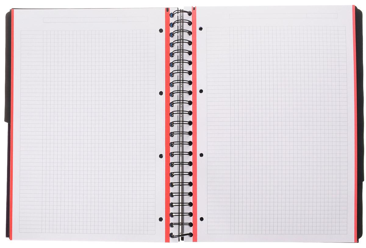 Красивая и практичная тетрадь Oxford Officе European Book отлично подойдет для школьников, студентов и офисных служащих. Тетрадь формата А4+ состоит из 120 белых листов с четкой линовкой в клетку. Обложка тетради выполнена из жесткого ламинированного картона, благодаря чему все ваши записи и заметки всегда будут в сохранности. Листы крепятся на двойной металлический гребень. На каждом листе есть возможность проставления даты, номера страницы или записи темы.Тетрадь состоит из 4 разделов с цветными пластиковыми разделителями. Разделители можно легко вынуть или переставить благодаря удобному креплению на гребне. В тетради предусмотрена страница снабженная карманом из плотного картона для хранения листов.