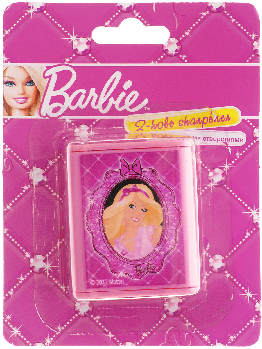 Яркая точилка Barbie с двумя отверстиями для цветных и чернографитных карандашей диаметром 8 мм и 11,5 мм поднимет настроение любому, кто возьмет ее в руки. Карандаш затачивается легко и аккуратно, а опилки после заточки остаются в специальном контейнере.Точилка оформлена изображением очаровательной Барби.