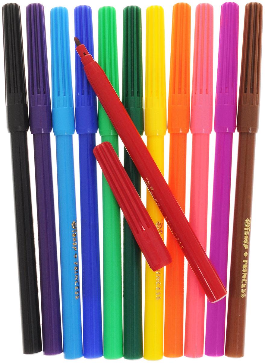 Фломастеры Disney Princess, предназначенные для рисования и раскрашивания, помогут вашему малышу создать неповторимые яркие картинки.Набор включает в себя фломастеры 12 ярких насыщенных цветов в разноцветных корпусах (цвет корпуса соответствует цвету чернил). Каждый фломастер оснащен плотным колпачком, надежно защищающим чернила от испарения.Фломастеры упакованы в пластиковый футляр, оснащенный европодвесом.Фломастеры Disney Princess - идеальный инструмент для самовыражения и развития маленького художника!