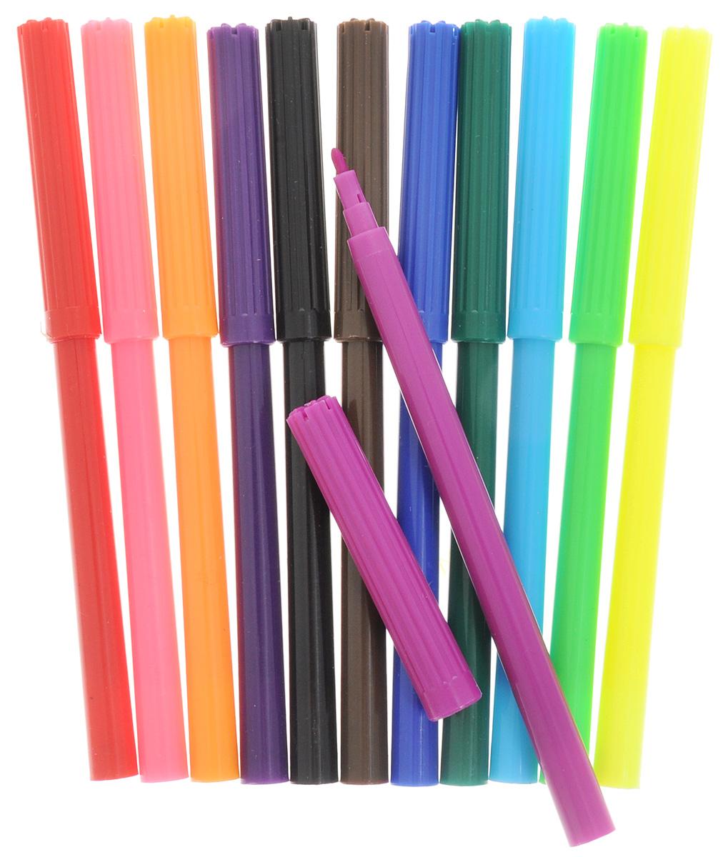 Набор Silwerhof Бабочки содержит фломастеры 12 ярких насыщенных цветов. Корпус фломастеров изготовлен из полипропилена. Безопасные чернила на водной основе легко отстирываются и смываются. Маленький диаметр удобен для детских пальчиков. Фломастеры оснащены вентилируемыми колпачками. Ширина линии письма: 1 мм. Фломастеры Silwerhof откроют юным художникам новые горизонты для творчества, а также помогут отлично развить мелкую моторику рук, цветовое восприятие, фантазию и воображение, способствуют самовыражению.