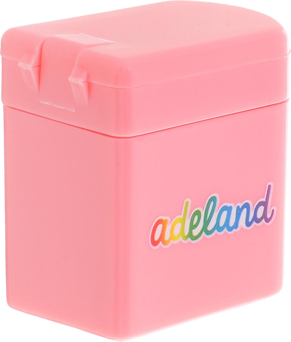 Точилка для карандашей Adeland хорошо точит цветные и простые карандаши. Она пригодится любому студенту или школьнику. Точилка оснащена двумя отверстиями разного диаметра и не повреждает поверхность карандаша при заточке. Точилка выполнена в виде яркой коробочки с изображением героев мультфильма Adeland. Крышка коробочки открывается, емкость под стружку легко отделяется от корпуса.