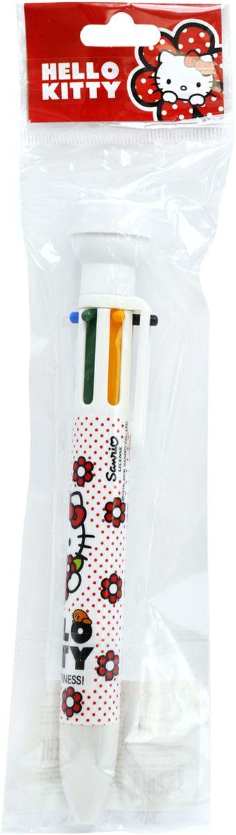 Пластиковый корпус. 6 цветов в одной ручке: красный, фиолетовый, синий, зеленый, оранжевый, черный. Со штампиком.