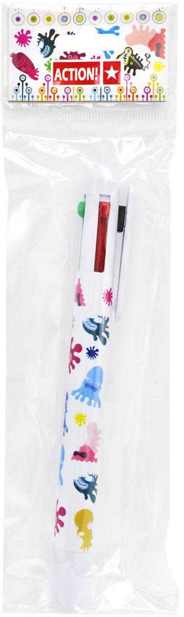 Шариковая ручка Action! предназначена для письма на бумаге. Имеет 4 цвета: красный, зеленый, черный и классический синий.