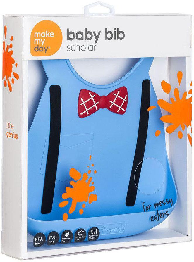 Make My DayНагрудник Baby Bib Scholar цвет голубой