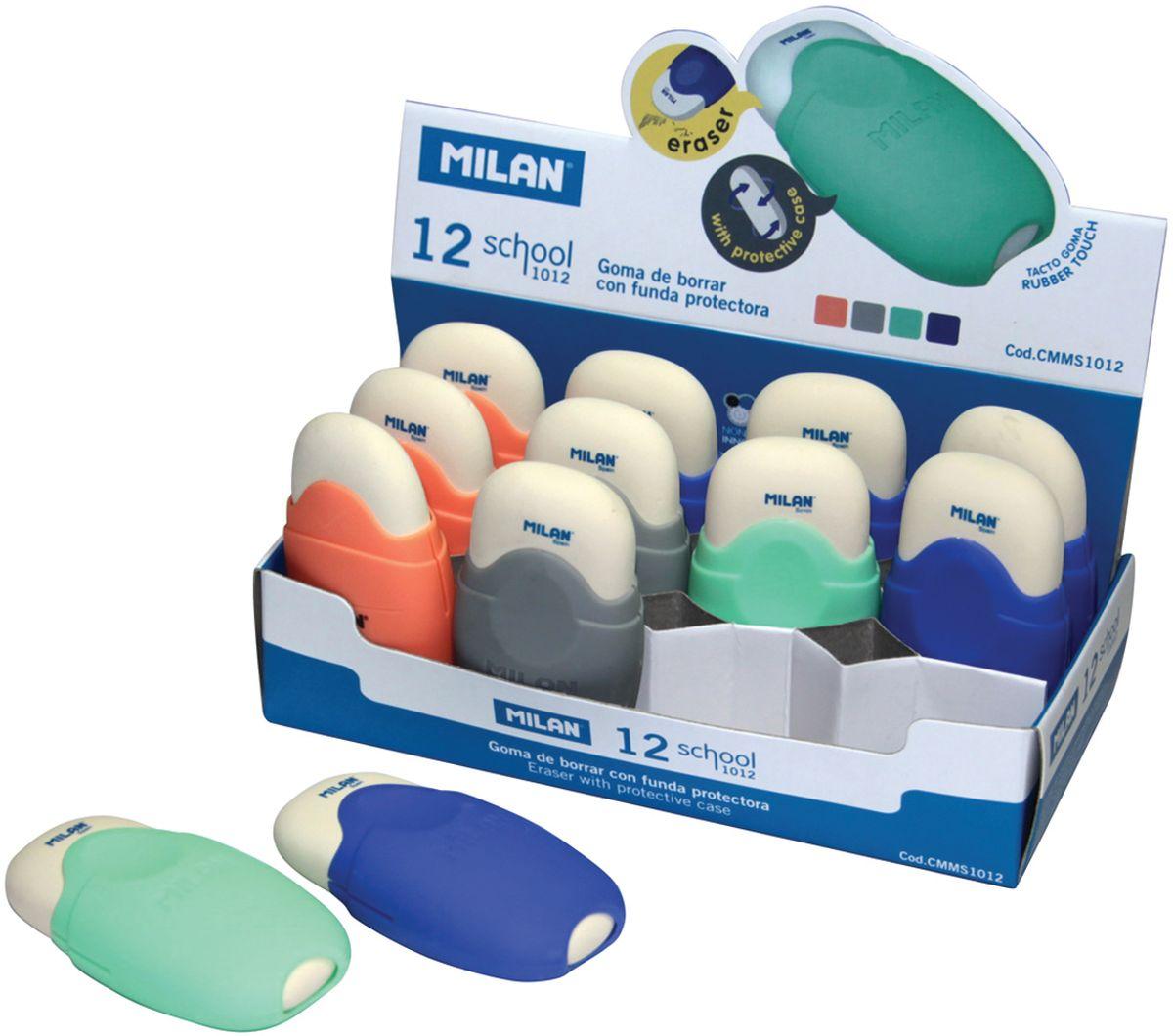 Ластик Milan School 1012 - это ластик с пластиковым держателем в эргономичном компактном корпусе. Заменяемый ластик.
