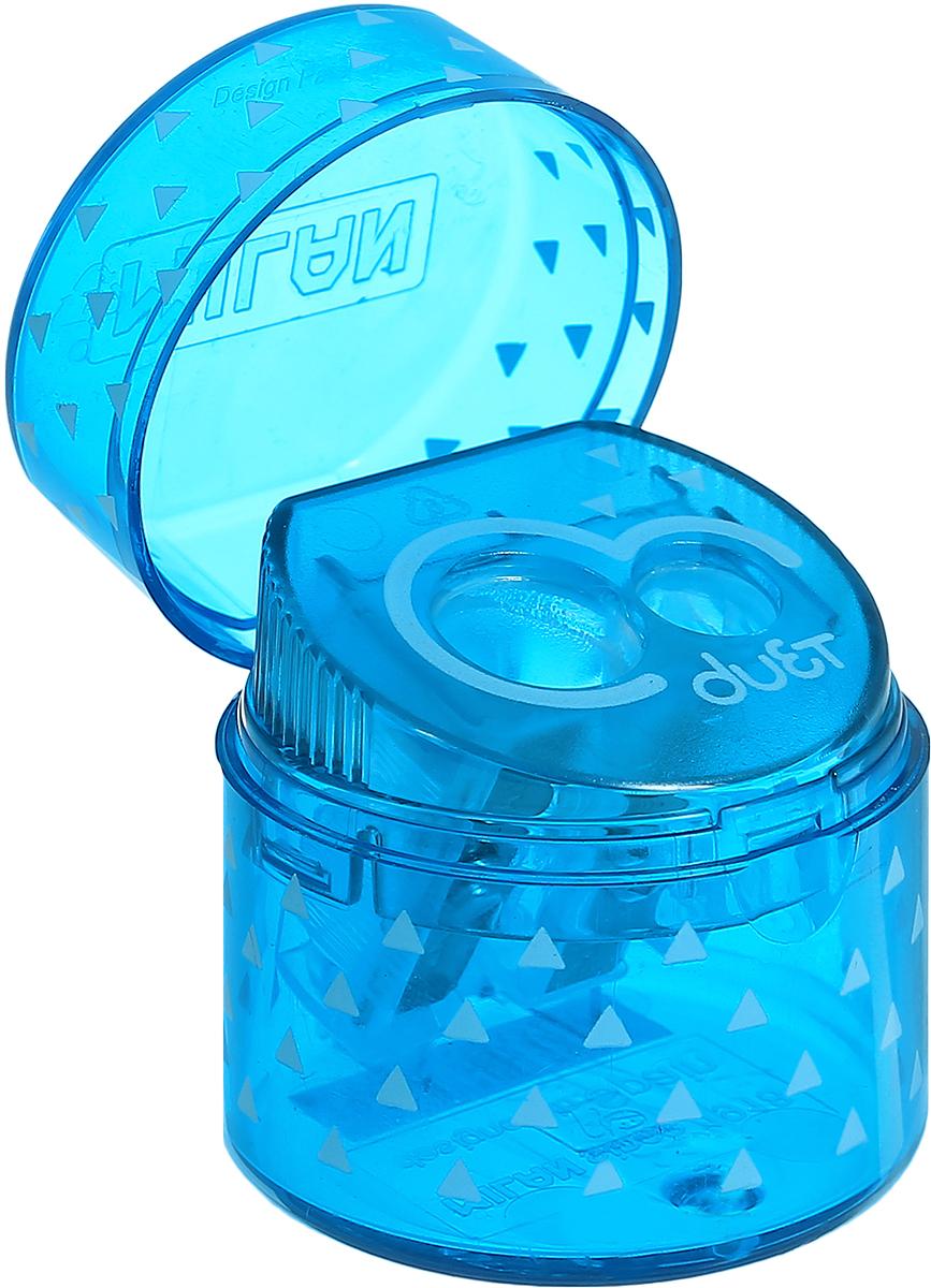 Удобная точилка с контейнером Milan Duet оснащена безопасной системой заточки.Эта система предотвращает отделение лезвия от точилки. Идеально подходит для использования в школах. Стальное лезвие острое и устойчиво к повреждению. Идеально подходит для заточки графитовых и цветных карандашей