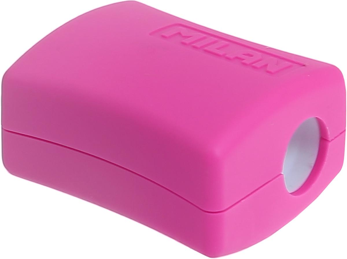 Удобная точилка Milan Double с контейнером оснащена безопасной системой заточки.Эта система предотвращает отделение лезвия от точилки. Идеально подходит для использования в школах. Стальное лезвие острое и устойчиво к повреждению. Идеально подходит для заточки графитовых и цветных карандашей