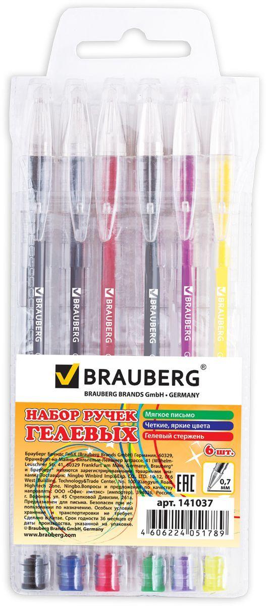 Набор гелевых ручек Brauberg Jet состоит из шести разноцветных ручек. Они отлично подойдут и для школы и для офиса.Ручки с пластиковым упором пишут разными цветами, а их корпус выполнен из качественных материалов. Диаметр шарика каждой ручки 0,7 мм.Удобный набор гелевых ручек Brauberg Jet станет незаменимой канцелярской принадлежностью для вас или для вашего ребенка.