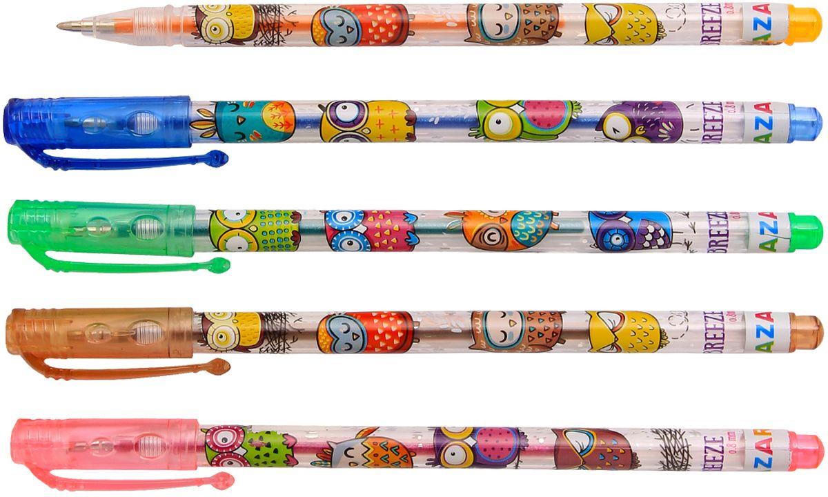Набор гелевых ручек Mazari Breeze - отличный выбор для любителей мягкого и удобного письма. Гелевая консистенция чернил равномерно распределяется по бумаге и быстро сохнет.Чернила ручек с блестками и имеют приятный аромат.Прозрачный корпус позволяет контролировать расход чернил.Пулевидный пишущий узел 0.8 мм.В наборе 10 разноцветных ручек.