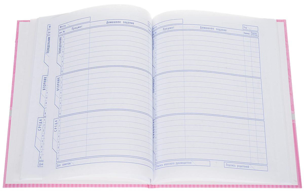 Школьный дневник Hatber The Cat поможет вашему ребенку не забыть свои задания, а вы всегда сможете проконтролировать его успеваемость.Внутренний блок дневника состоит из 48 листов белой бумаги с линовкой темно-синего цвета. Обложка выполнена из плотного картона c элементами блесток, оформлена изображением кошки в короне.В структуру дневника входят все необходимые разделы: информация о личных данных ученика, школе и педагогах, расписание факультативов и занятий. Дневник содержит номера телефонов экстренной помощи, государственные праздники, рекомендации педагогического коллектива и справочную информацию по различным предметам. В конце дневника имеется сведение об успеваемости за год.