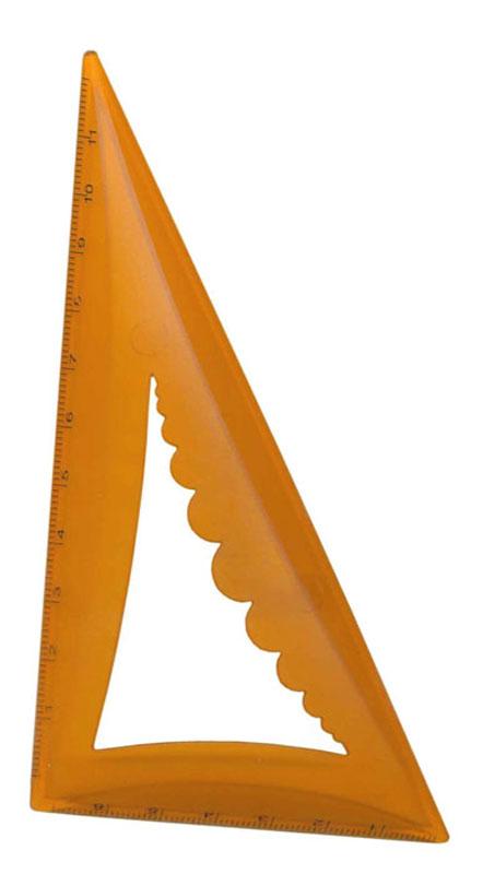 Объемный угольник Silwerhof со скошенными кромками станет вашим незаменимым помощником. Удобная форма помогает без труда понять чертежный предмет со стола. Выполнен из прозрачного цветного пластика с ровной четкой миллиметровой шкалой делений по двум сторонам до 12 см и 7 см.
