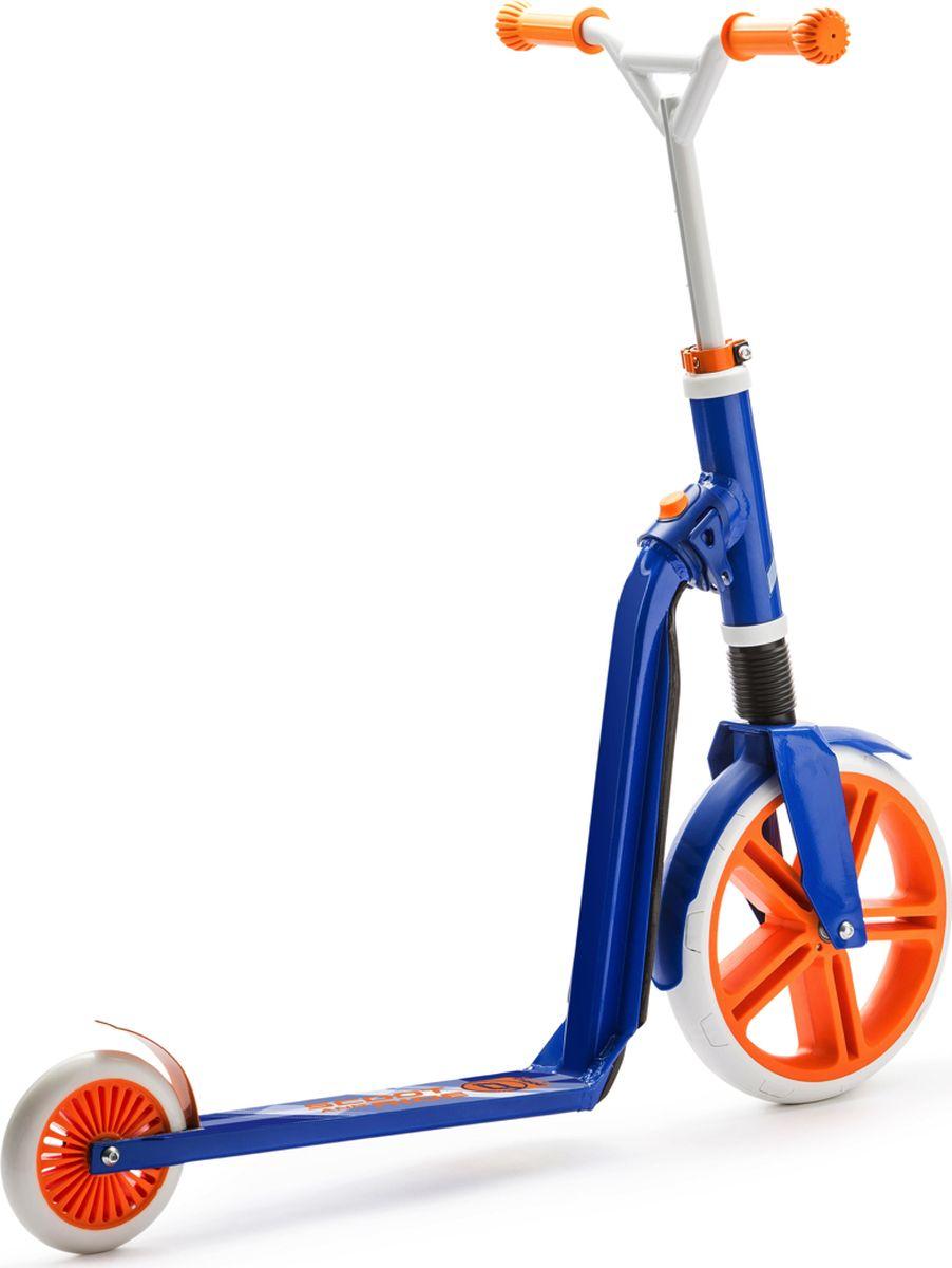 Scoot&RideСамокат-беговел Highway Gangster 2 в 1 цвет белый голубой оранжевый Scoot&Ride