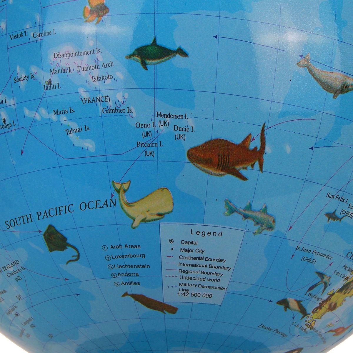 Глобус Ареал животных на английском языке диаметр 30 см Помните, что границы ареалов условны, потому что не все популяции...