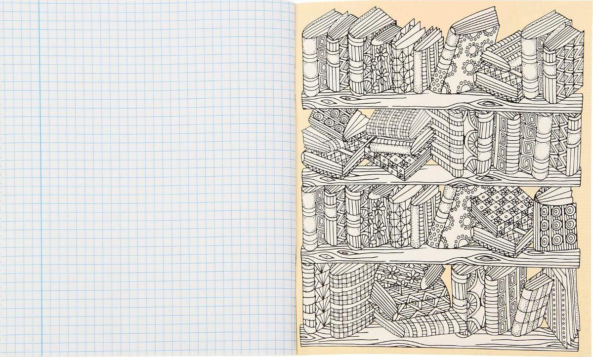 Эта уникальная тетрадь подарит массу удовольствия во время работы и отдыха. Процесс раскрашивания поможет избавиться от негативных эмоций, снимет стресс и вдохновит!Создавайте шедевры и записывайте важную информацию одновременно. С такой тетрадью работа или учеба обязательно принесут плоды.Внутренний блок на металлических скрепках содержит 48 листов бумаги в клетку с полями.