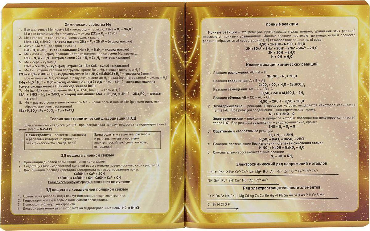 Предметная тетрадь ПЗБФ Золотая лихорадка-2: Химия станет идеальным вариантом для учебы.Обложка выполнена из металлизированного картона. Внутренний блок тетради состоит из 48 листов белой бумаги. Стандартная линовка в клетку дополнена полями. Тетрадь содержит полезную справочную информацию по предмету.