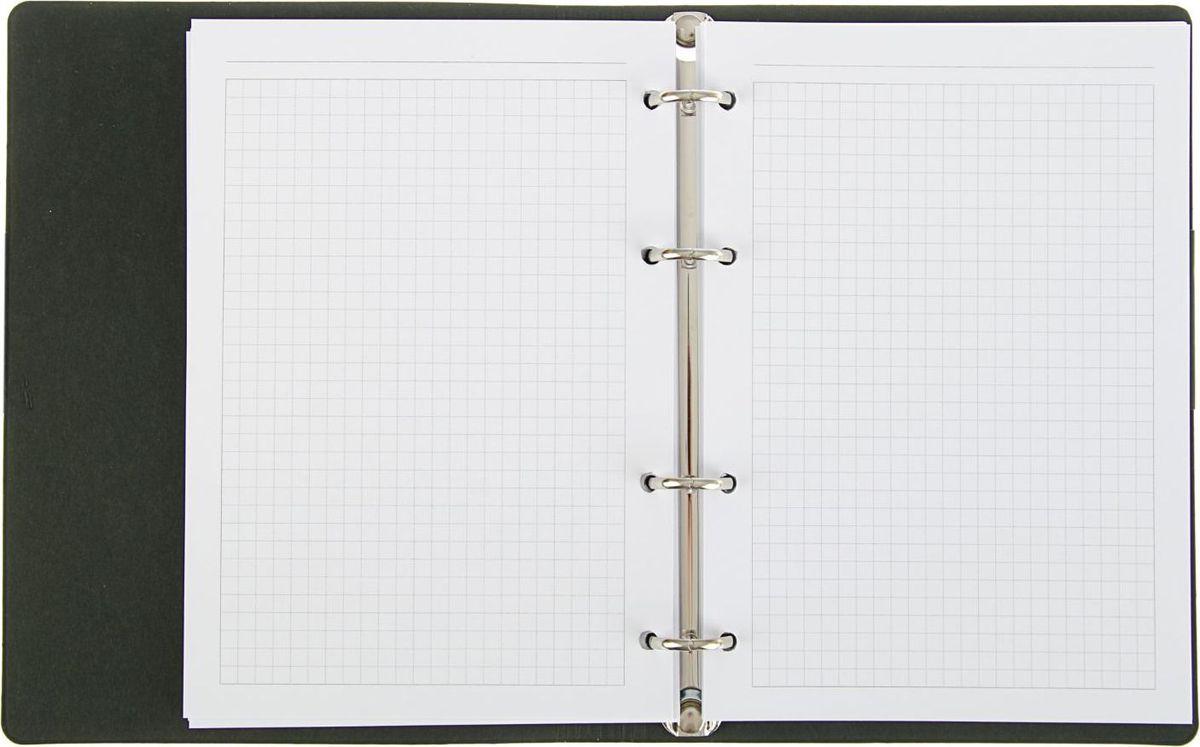 Тетрадь на кольцах Эксмо The Notebook в интегральном переплете подойдет для хранения важных записей по учебе, работе или для повседневных заметок.Обложка выполнена из искусственной кожи. Внутренний блок состоит из 120 листов качественной белой бумаги. Стандартная линовка в серую клетку без полей.Листы в блоке крепятся на четырех металлических кольцах.