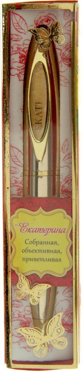 Ручка в коробке Екатерина - это не только качественная и удобная письменная принадлежность, но и яркий оригинальный аксессуар для прекрасных и обворожительных дам. Такой подарок оценит каждая представительница прекрасного пола, ведь он будет предназначаться именно ей! Корпус ручки, выполненный в золотом цвете, выгодно подчеркнет любой образ. Благодаря поворотному механизму вы ни за что не оставите на одежде чернильное пятно и сможете всегда носить ее с собой!