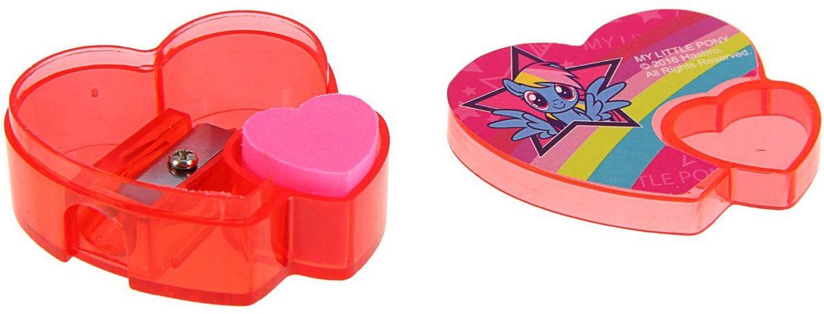 Удобная точилка в пластиковом корпусе My Little Pony предназначена для затачивания карандашей и выполнена в виде сердца с изображением героя любимого мультфильма.Точилка имеет одно отверстие. Острое лезвие обеспечивает высококачественную и точную заточку.Карандаш затачивается легко и аккуратно, а стружки после заточки остаются в контейнере.