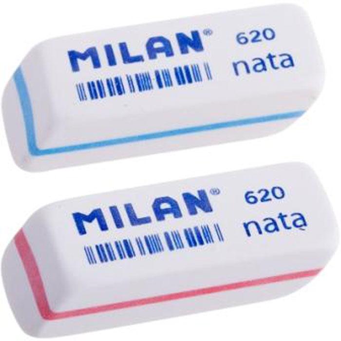 Ластик Milan Nata 620 - это двухкомпонентный синтетический мягкий ластик. Не повреждает бумагу. На каждый ластик нанесен штрикод.