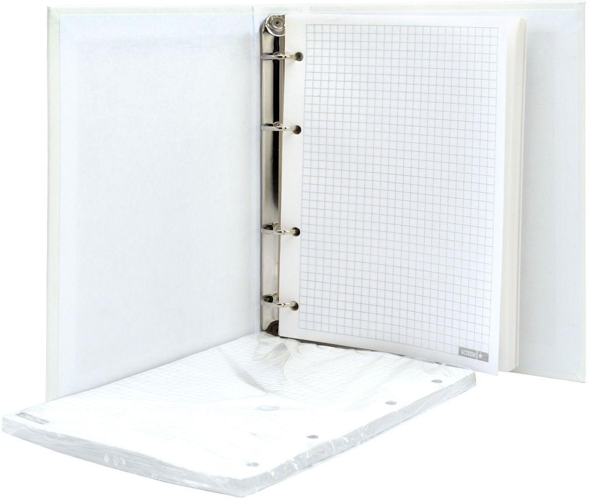 Тетрадь со сменным внутренним блоком. Жесткая обложка - 7БЦ, матовая ламинация. Внутренний блок - офсет плотностью 60 г/м2. Клетка. Формат А5. 160 листов.