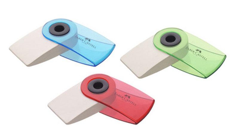 Ластик Faber-Castell Sleeve Mini имеет эргономичную форму. Пластиковый подвижный колпачок защищает ластик от загрязнения.Ластик не содержит ПВХ. Три трендовых цвета в ассортименте.Уважаемые клиенты!Обращаем ваше внимание на цветовой ассортимент товара. Поставка осуществляется в зависимости от прихода товара на склад.