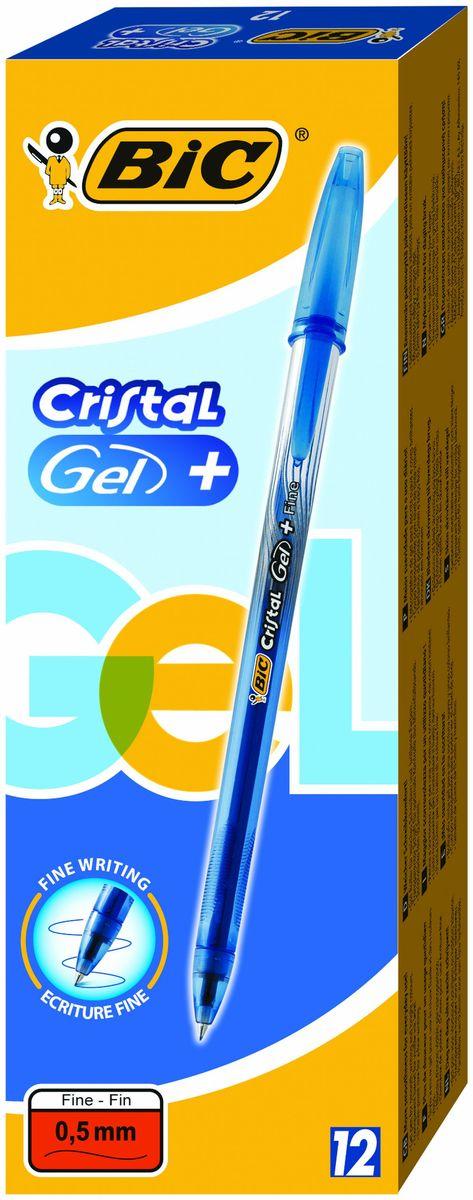 Гелевая ручка BIC Cristal Gel с чернилами на водной основе, отлично подойдет для любителей гелевых ручек. Ручка оснащена резиновым гриппом для комфортного письма, который препятствует скольжению в пальцах. Качественные чернила обеспечивают четкое и ровное письмо. Ручка имеет тонкий пишущий узел. Диаметр пишущего узла - 0,5 мм. Полупрозрачный корпус позволит видеть уровень чернил. Цвет корпуса соответствует цвету чернил.Тонкая линия письма - 0,36 мм.Гелевая ручка BIC Cristal Gel обеспечит вам мягкое письмо. Дизайн ручки выполнен с эффектом металлик.  Уважаемые клиенты! Обращаем ваше внимание на возможные изменения в дизайне упаковки. Качественные характеристики товара остаются неизменными. Поставка осуществляется в зависимости от наличия на складе.