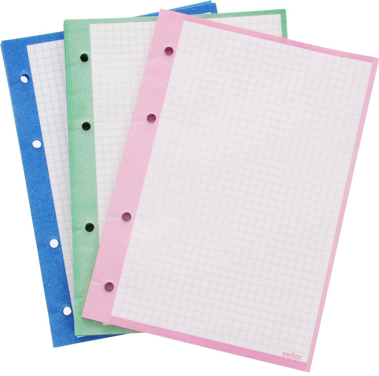 Сменный блок в клетку Index предназначен для тетрадей с кольцевым механизмом.Листы выполнены из высококачественной бумаги формата А5.Идеально подходят для использования всех видов пишущих принадлежностей, включая гелевые, капиллярные и перьевые ручки.