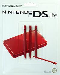 Стилус для Nintendo DS Lite красного цвета (комплект из 3 шт.)R0000495Комплект из трех оригинальных стилусов для Nintendo DS Lite.