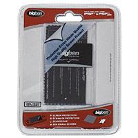 Комплект из 3 элементов для защиты экрана Sony PSP/PSP SlimPSPKITПленка для экрана, предотвращающая любые повреждения или царапины. Очищающая салфетка для безопасной очистки экрана. Пластиковая пластина, позволяющая приклеить пленку без пузырей.