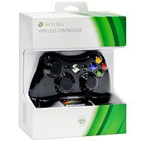 Геймпад беспроводной для платформы Microsoft Xbox 360 (черный)