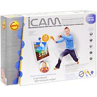 Обучающая игровая приставка iCam5C6-00110Новый шаг в мировой истории развития компьютерных игр для детей! Игровой обучающий центр у Вас дома! Ваш ребенок растет и развивается с Comfy! Игровая системаiCamот Comfy - это увлекательное обучение, основанное на движении, для детей в возрасте от4до8лет. Играя в подвижные интерактивные обучающие игры, Ваш ребенок сможет изучать счет, правописание, естествознание, правила дорожного движения и многое другое. iCam снабжен тремя контроллерами, специально сконструированной веб-камерой а также компакт-диском, содержащим 10 обучающих игр: Магия счета, Пиши правильно, Утилизация, Фрукт или овощ?, Саймон говорит, Художник, Пазлы, Музыкант, Юный водитель: поездка по кварталу и Юный водитель: поездка вокруг света. iCam распознает движение благодаря прилагаемой веб-камере и патентованному программному обеспечению для увлекательного интерактивного обучения в движении. Контроллеры Волшебная палочка разработаны специально для маленьких детских рук, ребенок сможет интуитивно понять возможности устройства и легко управлять им. Волшебное рулевое колесо - настоящий симулятор вождения. Ваш малыш сможет во время игры изучать правила движения и основы безопасного управления автомобилем. Система iCam была разработана в соответствии с Циклом развития Comfy 3C, чтобы стимулировать детскую любознательность в целях эффективного обучения. Игра предлагает детям богатую интерактивную среду, направляя врожденную любознательность в познавательное русло. Интересный и увлекательный контент, подобранный в соответствии с возрастом и уровнем развития, вдохновляет и мотивирует ребенка максимально полно использовать свои способности. Система iCam способствует развитию уверенности в себе и позволяет ребенку активно участвовать в игровых действиях, развивая навыки решения проблем и творческого мышления.Особенности продукта:Специально разработанные контроллеры для активного обучения. Увлекательное изучение правильного произношения слов, естествознания и счета в дви