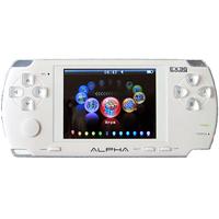 Мультимедийная портативная приставка EXEQ Alpha (белая)MP-1001Exeq Alpha - новая портативная игровая приставка с большим экраном в 3, с превосходной графикой и 100 встроенными играми - которые порадуют каждого!Особенности продукта: Поддержка игр форматов: 8, 16, 32 бит (GBA, GBC, GB,NES, SMD, SMC, BIN, SWF).Поддержка видео форматов: RMVB, RM, AVI, VOB, DAT, MPG, FLV, DVD/VCD.Возможность подключения к TV и просмотр видео высокого разрешения.Поддержка аудио форматов: MP3, WMA, WAV, AAC, FLAC, APE.Функция радио: диапазон от 76.0 MHz до 108.0 MHz, память на 20 каналов.Просмотр изображений JPG, функция слайд-шоу.Возможность чтения книг формата TXT.Встроенная камера 1.3 Mpx.В главном меню содержится 12 категорий:Игра. Фильм. Музыка. Рисунок. Электронная книга. Фотоаппарат. Звукозапись. Календарь. Будильник. Настройка. Проводник. Радиоприемник. Технические характеристики:Экран - 3 дюйма, ЖК, 320 х 240; Встроенная память - 4 Гб; Литиево-ионный аккумулятор - 1000 mAh, более 5 часов работы; Порт USB - 2.0 (высокоскоростной);Видео выход: AV (видео + аудио),PAL/NTSC;Поддержка карт памяти Micro SD объемом до 8 Гб; Размеры - 137.5 х 61.8 х 13.2 мм; Вес - 120 гр. В комплект входит:Игровая консоль. Сетевой адаптер. Наушники. AV-кабель. USB-кабель. Подробная инструкция на русском языке. Гарантийный талон.