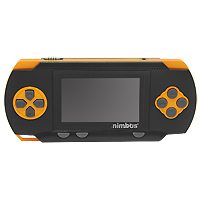 Портативная игровая система DVTech Nimbus 8 бит Classic, черно-оранжевая. 176 встроенных игрKF7-00066Большое развлечение в портативном формате. Мы предлагаем вам новую встречу с классическими играми формата Денди, которые подарят вам много часов увлекательных развлечений. Приключения, леталки, гонки, стрелялки, бродилки и логические игры, выбирайте, что больше придется по душе и вперед к заветным победам.